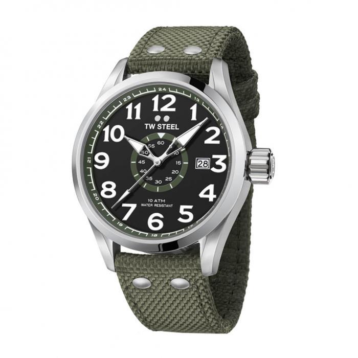 SKU-22106 / TW STEEL Volante Army Green Textile Strap