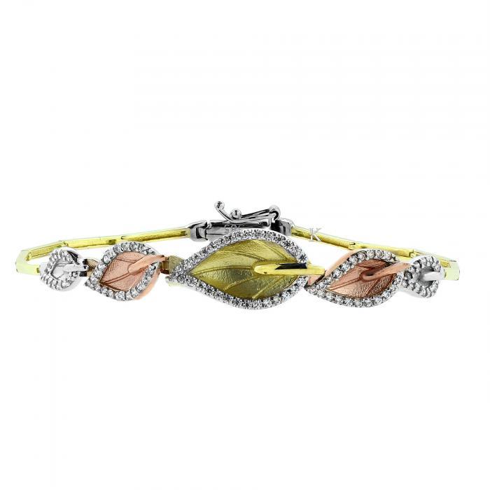 SKU-23722 / Βραχιόλι Χρυσός , Λευκόχρυσος & Ροζ Χρυσός Κ14 με Ζιργκόν