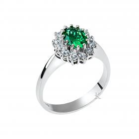 Δαχτυλίδι Ροζέτα Λευκόχρυσος Κ14 με Ζιργκόν SKU-23433