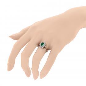Δαχτυλίδι Ροζέτα Λευκόχρυσος Κ14 με Ζιργκόν Δαχτυλίδια