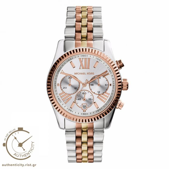 SKU-24409 / MICHAEL KORS Lexington Τri Tone Stainless Steel Bracelet
