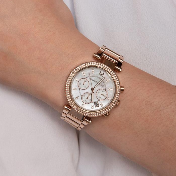 SKU-24402 / MICHAEL KORS Parker Crystals Rose Gold Stainless Steel Bracelet