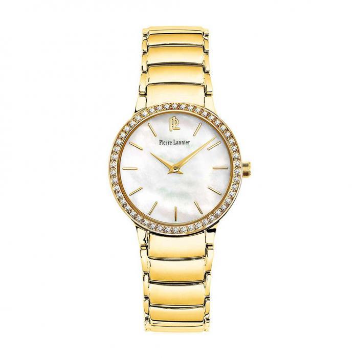 SKU-24900 / PIERRE LANNIER Ladies Crystals Gold Stainless Steel Bracelet
