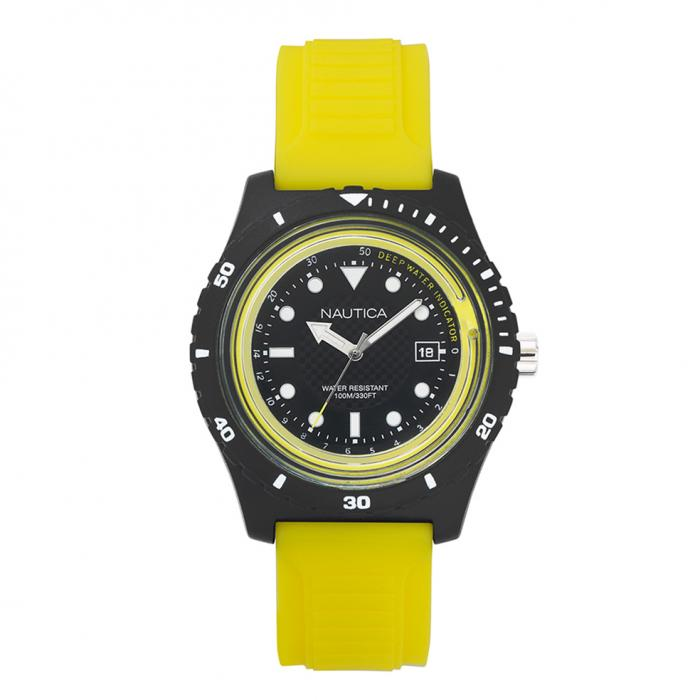 SKU-25441 / NAUTICA Ibiza Yellow Rubber Strap