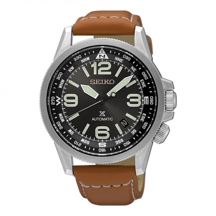 SKU-25489 / SEIKO Prospex Automatic Brown Leather Strap