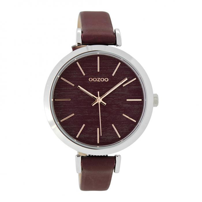 SKU-26730 / OOZOO Timepieces Bordeaux Leather Strap