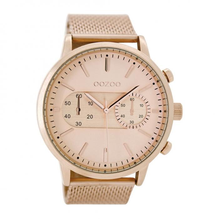 SKU-26724 / OOZOO Timepieces XXL Rose Gold Metallic Bracelet