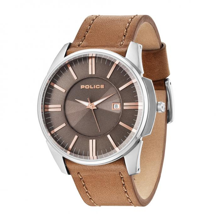 SKU-26391 / POLICE Governor Brown Leather Strap