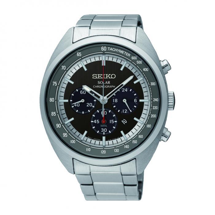 SKU-26134 / SEIKO Solar Chronograph Stainless Steel Bracelet