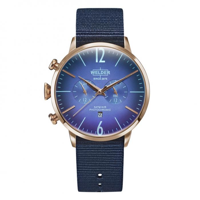 WELDER Moody Dual Time Blue Fabric Strap