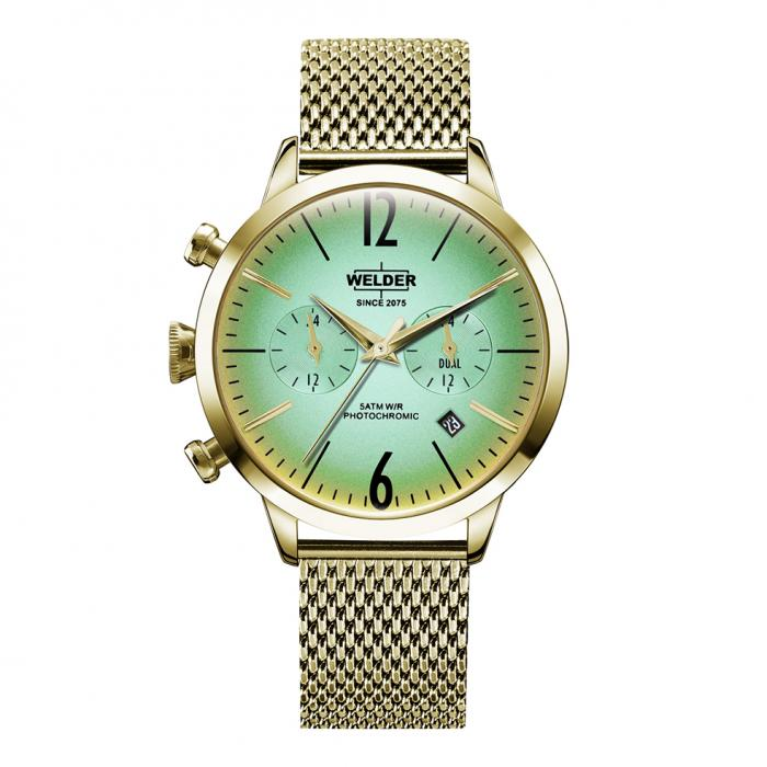 WELDER Moody Dual Time Gold Stainless Steel Bracelet