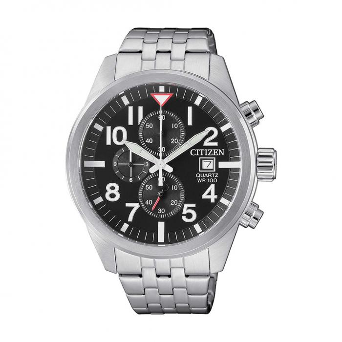 SKU-27757 / CITIZEN Chronograph Silver Stainless Steel Bracelet