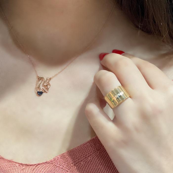Κολιέ Ροζ Χρυσός Κ14 με Ζιργκόν
