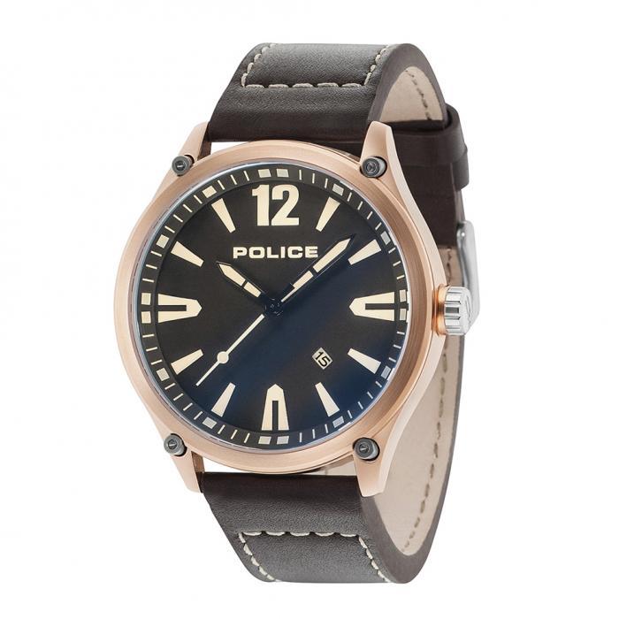 SKU-27631 / POLICE Denton Black Leather Strap