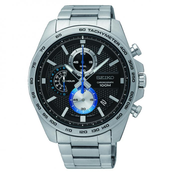 SKU-28300 / SEIKO Chronograph Silver Stainless Steel Bracelet