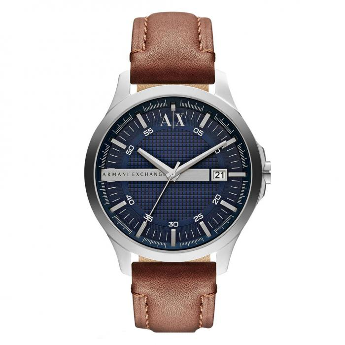 SKU-28664 / ARMANI EXCHANGE Hampton Brown Leather Strap