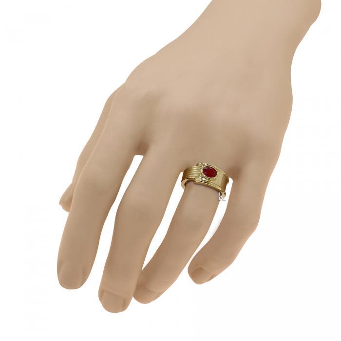 Δαχτυλίδι Χρυσός Κ18 με Ρουμπίνι