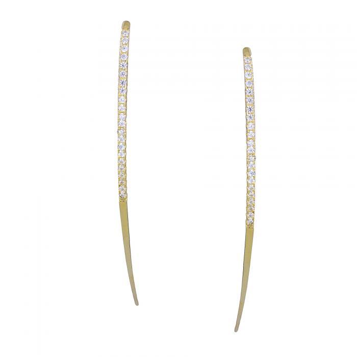 SKU-28318 /  Σκουλαρίκια Χρυσός Κ14 με Ζιργκόν