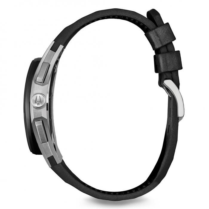 SKU-29097 / BULOVA Curv Black Rubber Strap