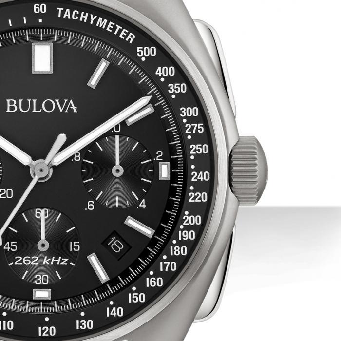 SKU-29123 / BULOVA Special Edition Lunar Pilot Chronograph Black Leather Strap
