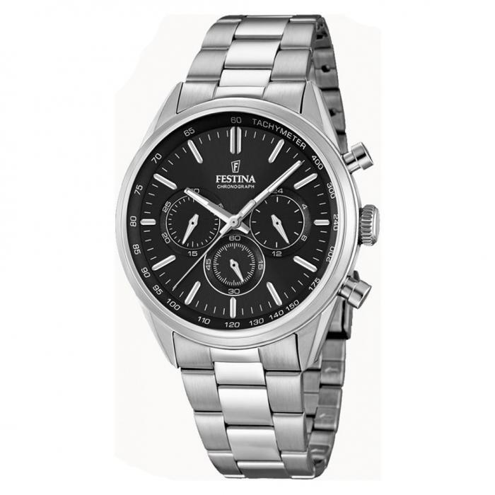 SKU-29565 / FESTINA Chronograph Stainless Steel Bracelet