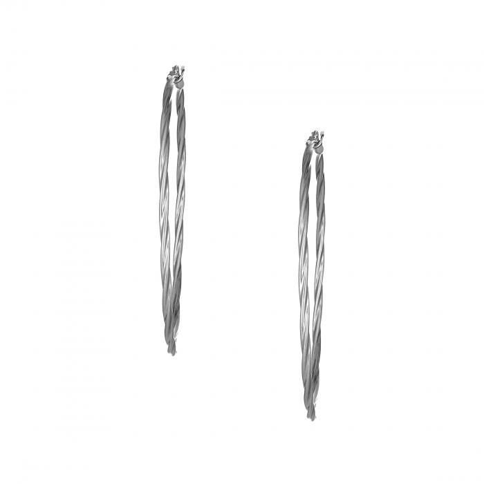 SKU-29666 / Σκουλαρίκια Κρίκοι Ασήμι 925°