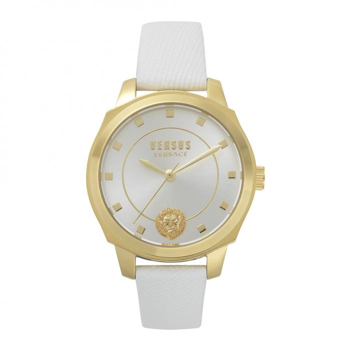 VERSUS VERSACE New Chelsea White Leather Strap
