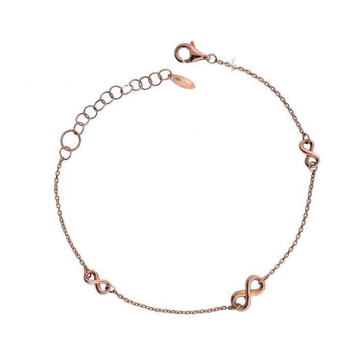 SKU-30903 / Βραχιόλι Infinity Ροζ Χρυσός Κ14