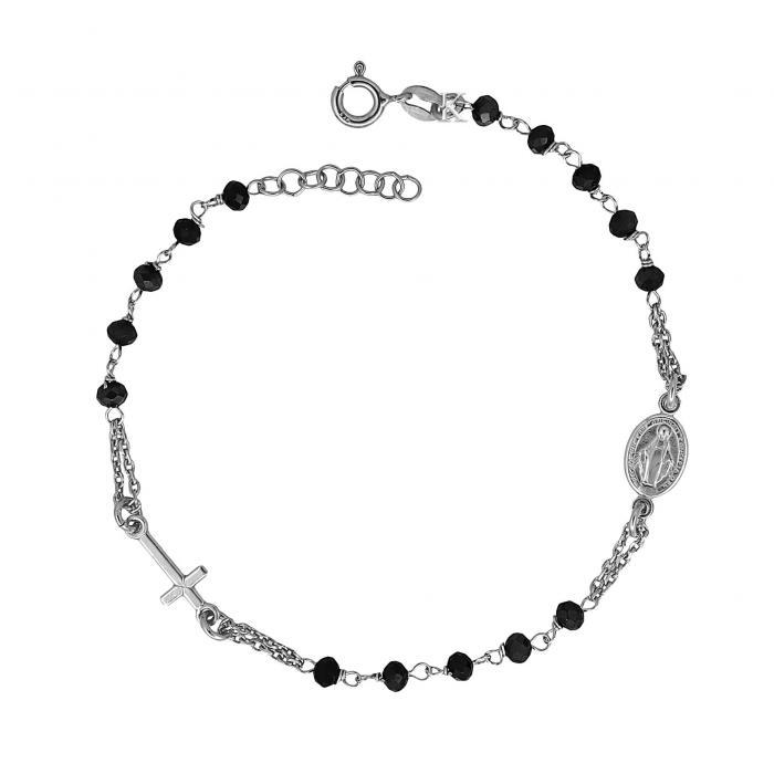 SKU-30967 / Βραχιόλι Ασήμι 925° με Μαύρο Όνυχα
