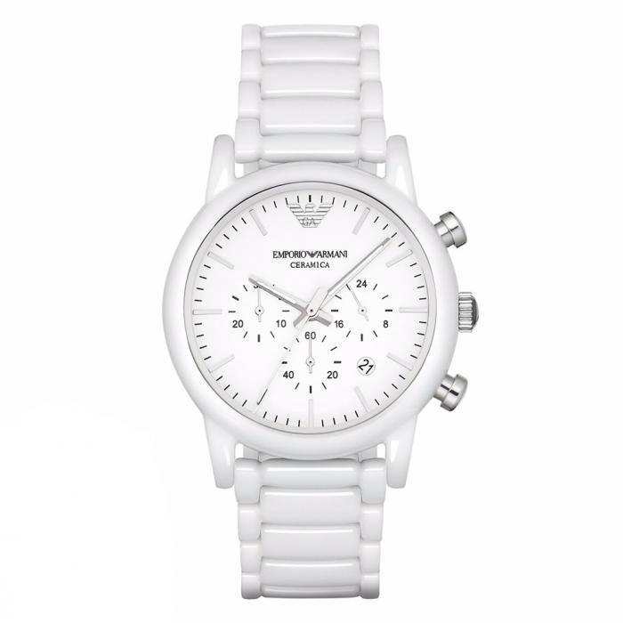 SKU-30270 / EMPORIO ARMANI Chronograph White Ceramic Bracelet