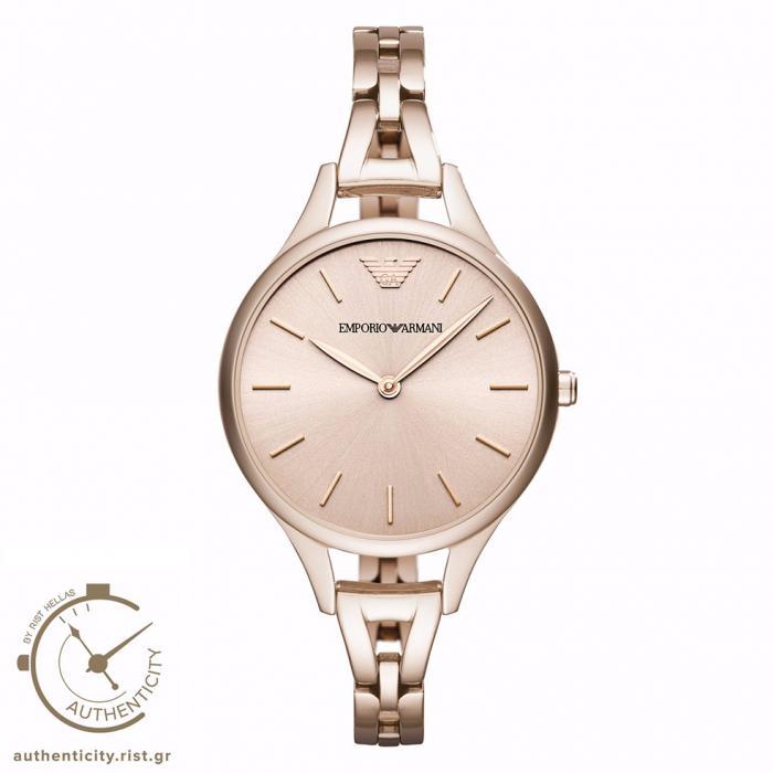 SKU-30247 / EMPORIO ARMANI Rose Gold Stainless Steel Bracelet