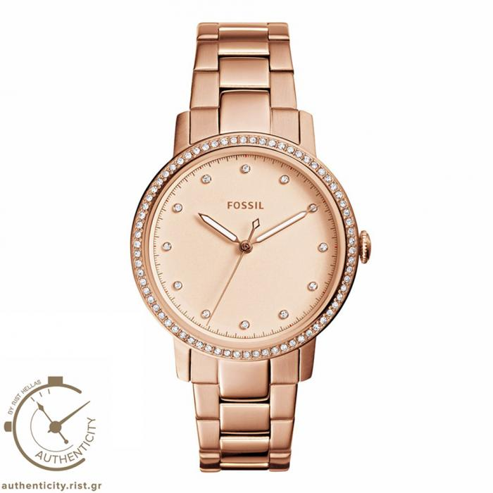 SKU-30509 / FOSSIL Neely Crystals Rose Gold Stainless Steel Bracelet