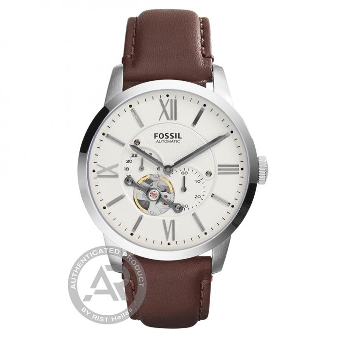 SKU-30723 / FOSSIL Townsman Αutomatic Brown Leather Strap