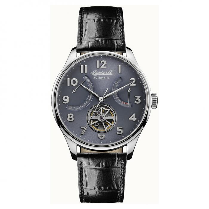SKU-30741 / INGERSOLL Hawley Automatic Black Leather Strap