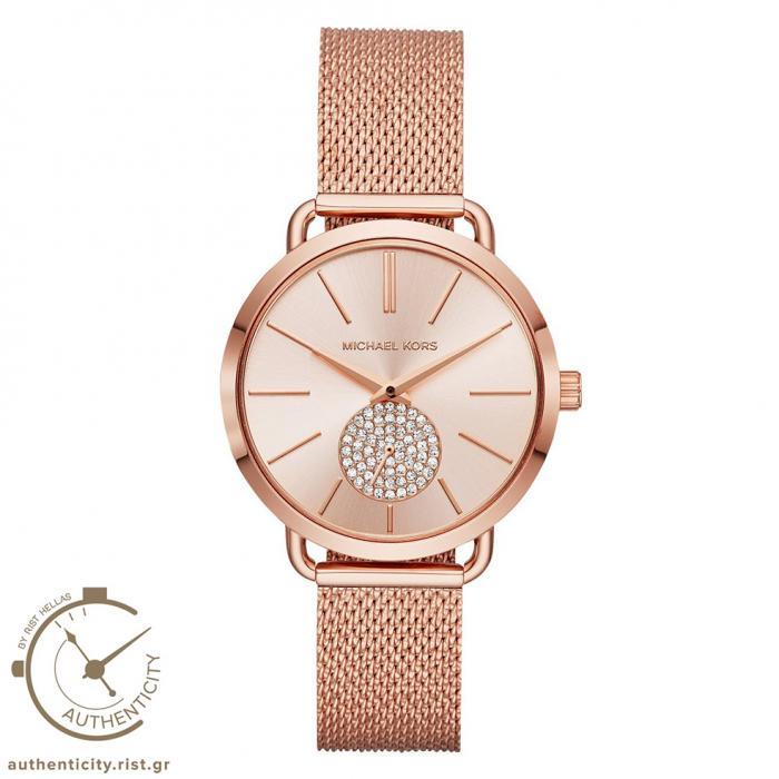 SKU-30595 / MICHAEL KORS Portia Crystals Rose Gold Stainless Steel Bracelet