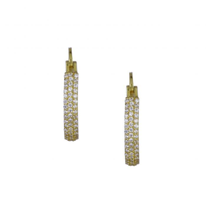 SKU-30918 / Σκουλαρίκια Χρυσός Κ14 με Ζιργκόν