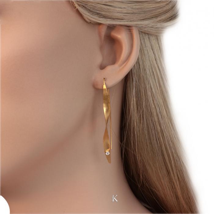 SKU-31453 / Σκουλαρίκια Χρυσός Κ14