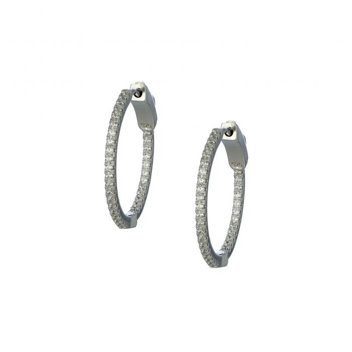 SKU-31000 / Σκουλαρίκια Κρίκοι Ασήμι 925° με Ζιργκόν
