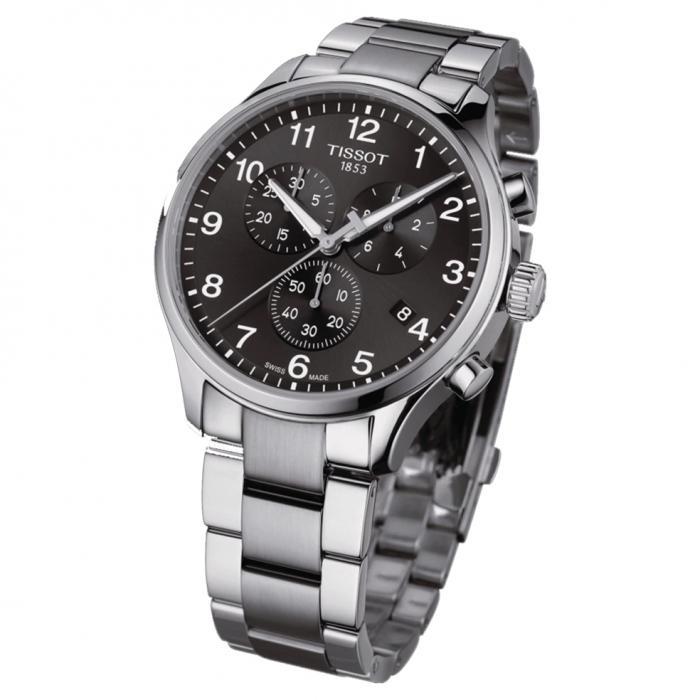 TISSOT T-Sport Chrono XL Chronograph Silver Stainless Steel Bracelet