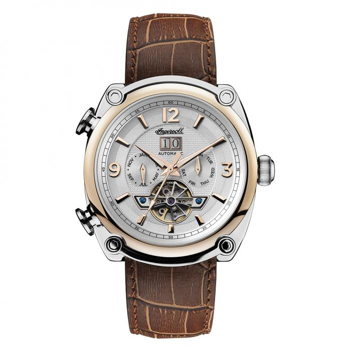 SKU-32318 / INGERSOLL Michigan Automatic Brown Leather Strap