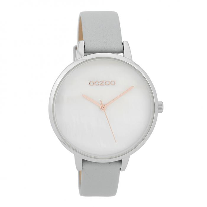 SKU-32297 / OOZOO Timepieces Grey Leather Strap