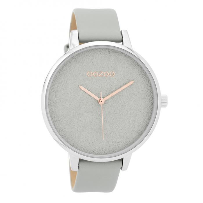 SKU-32313 / OOZOO Timepieces Grey Leather Strap