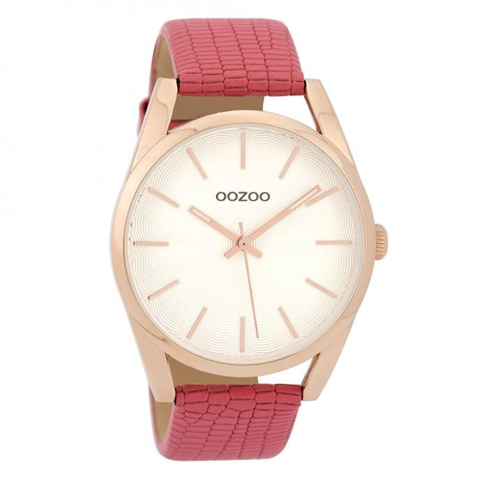SKU-32296 / OOZOO Timepieces Pink Leather Strap