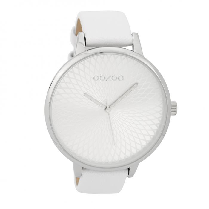 SKU-32275 / OOZOO Timepieces White Leather Strap