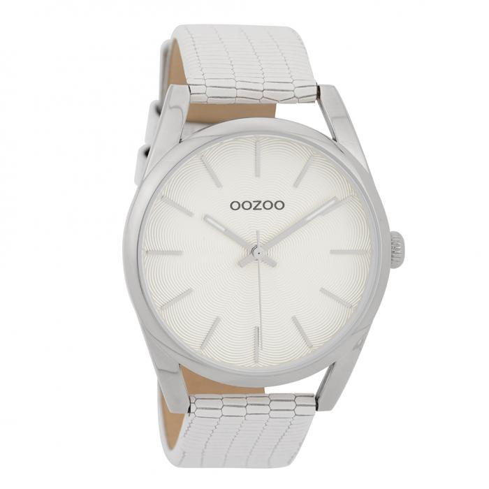 SKU-32292 / OOZOO Timepieces White Leather Strap