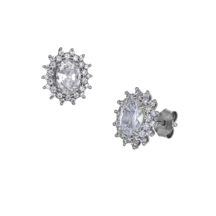 SKU-32243 / Σκουλαρίκια Ασήμι 925° Ζιργκόν