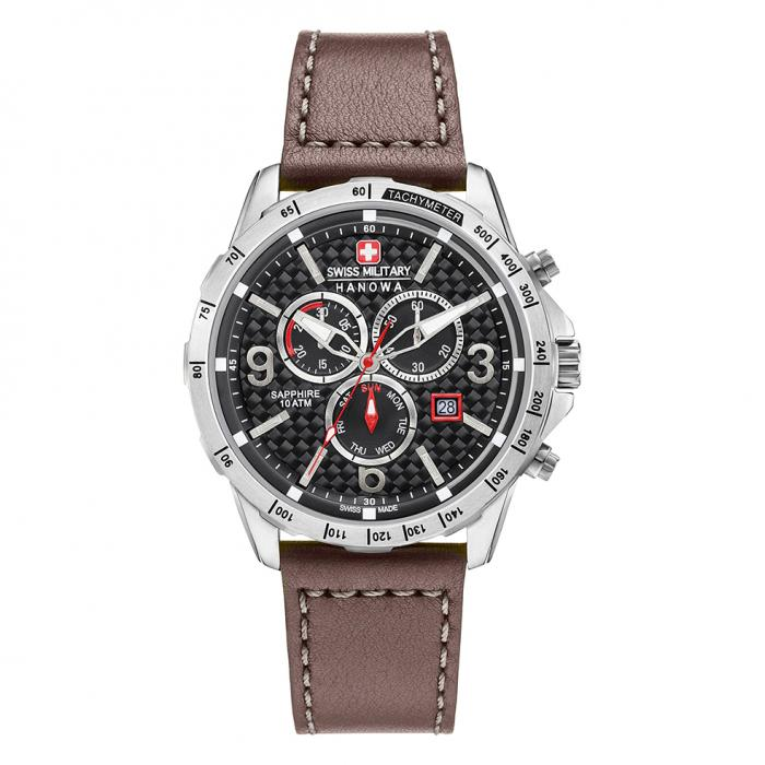 SKU-32320 / SWISS MILITARY HANOWA Ace Chrono Brown Leather Strap