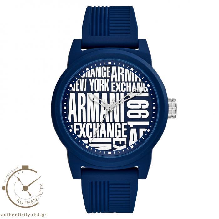SKU-33007 / ARMANI EXCHANGE Blue Rubber Strap