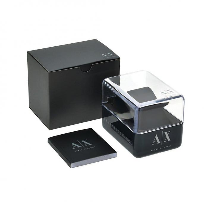 SKU-33019 / ARMANI EXCHANGE Crystals Chronograph White Leather Strap