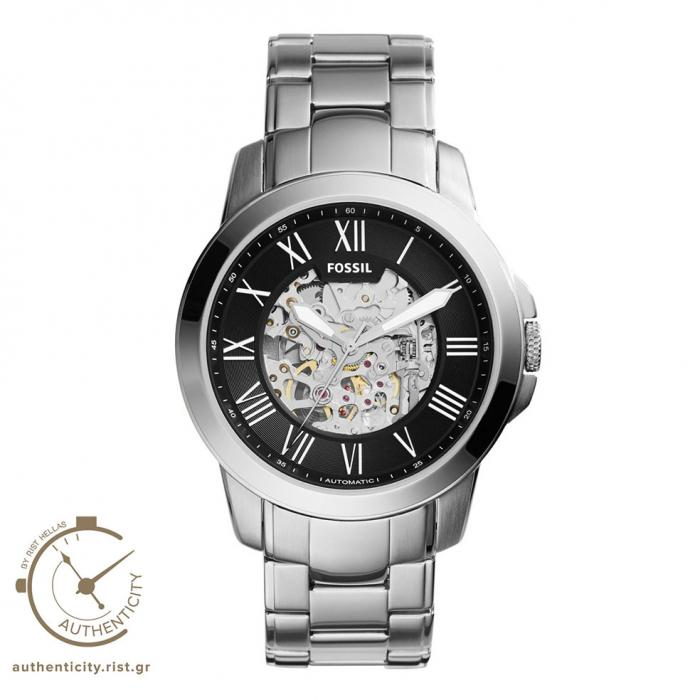 SKU-33087 / FOSSIL Grant Automatic Silver Stainless Steel Bracelet